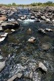 La rivière Zambesi au-dessus de Victoria Falls en Afrique Images stock