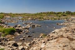 La rivière Zambesi au-dessus de Victoria Falls en Afrique Photos libres de droits