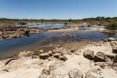 La rivière Zambesi au-dessus de Victoria Falls en Afrique Image libre de droits