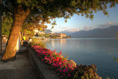 La Riviera suisse, Montreux Photos stock