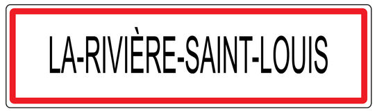 La Riviere Saint Louis city traffic sign illustration in France. La Riviere Saint Louis city traffic sign illustration Stock Images