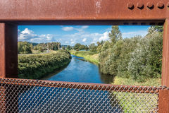 La rivière Green a encadré Image stock