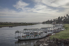 La rivière le Nil, les bateaux Images libres de droits
