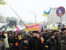 La rivoluzione arancio nel _34 di Kyiv nel 2004 Immagini Stock