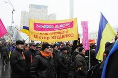 La rivoluzione arancio nel _33 di Kyiv nel 2004 Fotografie Stock Libere da Diritti