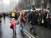 La rivoluzione arancio nel _72 di Kyiv nel 2004 Fotografia Stock Libera da Diritti