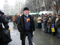 La rivoluzione arancio nel _73 di Kyiv nel 2004 Fotografie Stock Libere da Diritti