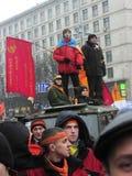 La rivoluzione arancio nel _75 di Kyiv nel 2004 Fotografia Stock