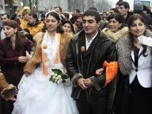 La rivoluzione arancio nel _76 di Kyiv nel 2004 Fotografia Stock