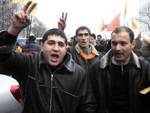La rivoluzione arancio nel _78 di Kyiv nel 2004 Fotografie Stock Libere da Diritti