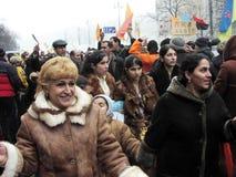 La rivoluzione arancio nel _77 di Kyiv nel 2004 Fotografia Stock Libera da Diritti