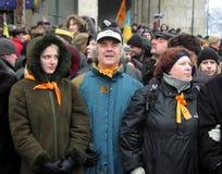 La rivoluzione arancio nel _65 di Kyiv nel 2004 Immagine Stock Libera da Diritti