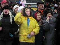 La rivoluzione arancio nel _67 di Kyiv nel 2004 Immagine Stock