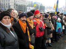 La rivoluzione arancio nel _68 di Kyiv nel 2004 Fotografie Stock