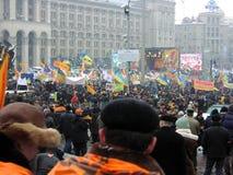 La rivoluzione arancio nel _36 di Kyiv nel 2004 Fotografia Stock Libera da Diritti