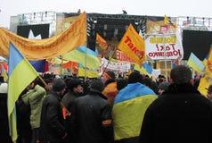 La rivoluzione arancio nel _37 di Kyiv nel 2004 Fotografia Stock Libera da Diritti