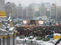 La rivoluzione arancio nel _39 di Kyiv nel 2004 Fotografia Stock