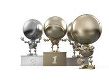 La robusteza que ganó el primer lugar dobló para conseguir la medalla Imagen de archivo libre de regalías
