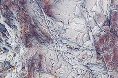 La roca congelada Fotos de archivo