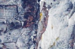 La roca congelada Imágenes de archivo libres de regalías