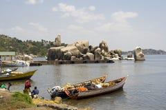 La roca de Bismarck en Mwanza Foto de archivo libre de regalías