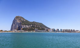 La roca de Gibraltar Fotos de archivo libres de regalías