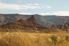La roca del sombrero mexicano, Utah, los E.E.U.U. fotografía de archivo libre de regalías