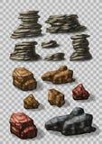 La roca empiedra la colección Foto de archivo