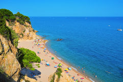 La Roca Grossa Beach in Calella, Spain Stock Photo