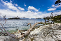 La Roca Lake in Tierra Del Fuego National Park in Argentina Royalty Free Stock Photos
