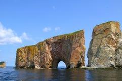 La roca perforada Foto de archivo libre de regalías