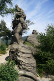 La roca, Rudawy Janowickie, Polonia fotografía de archivo libre de regalías