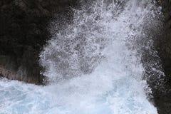La roca y Ranboya de Kaminariiwa gorge en la costa de Goishi fotografía de archivo libre de regalías