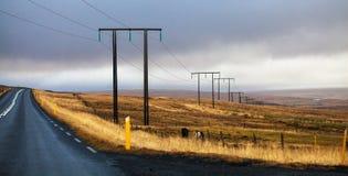 la rocade en Islande Photographie stock