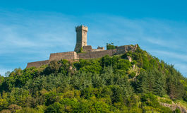 La Rocca Fortress in Radicofani, Tuscany, Italy Stock Photography