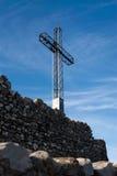 La Rocca, Italy, cross on background of sky. La Rocca, Italy, cross on background of blue sky Royalty Free Stock Photos