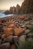 La roccia dei culmini, Phillip Island dell'Australia Immagini Stock