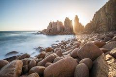 La roccia dei culmini, Phillip Island dell'Australia Fotografia Stock Libera da Diritti