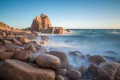 La roccia dei culmini, Phillip Island dell'Australia Fotografia Stock