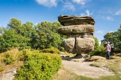 La roccia dell'idolo nella prospettiva Immagine Stock Libera da Diritti