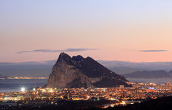 La roccia della Gibilterra Fotografie Stock Libere da Diritti
