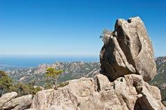 La roccia della sentinella della Corsica Immagini Stock
