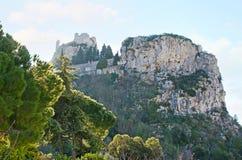 La roccia di Eze fotografie stock libere da diritti
