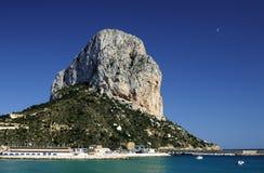 La roccia di Ifach, Calpe, Alicante. fotografia stock libera da diritti
