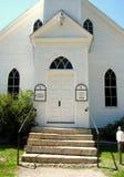 La roccia di vecchie porta e pietra della chiesa delle età fa un passo Immagini Stock