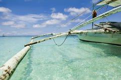 La roccia di Willy sull'isola Boracay Fotografia Stock Libera da Diritti