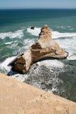 La roccia famosa della cattedrale di Paracas immagini stock libere da diritti