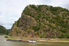 La roccia leggendaria di Loreley immagini stock libere da diritti