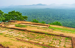 La roccia piana di Sigiriya immagini stock libere da diritti