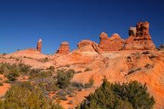 La roccia rossa incurva NationalPark Immagini Stock Libere da Diritti